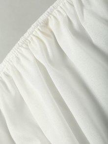 Llanura La De Recortada L Blusa Hombro Blanco rgrA0x