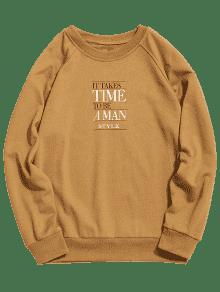 Caqui Graphic Neck 2xl Sweatshirt Time Crew wIz7PFqwU