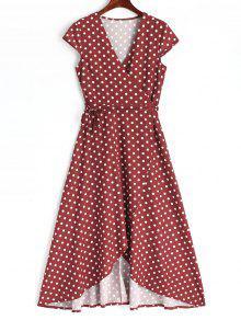 2xl Asim Abrigo Lunares Vestido Vino 233;trico Maxi De Rojo Bqx8PwAU