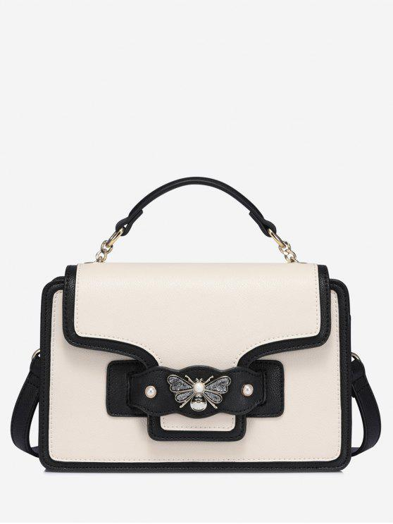 1304630afa17 36% OFF  2019 Butterfly Color Block Faux Pearl Handbag In WHITE AND ...