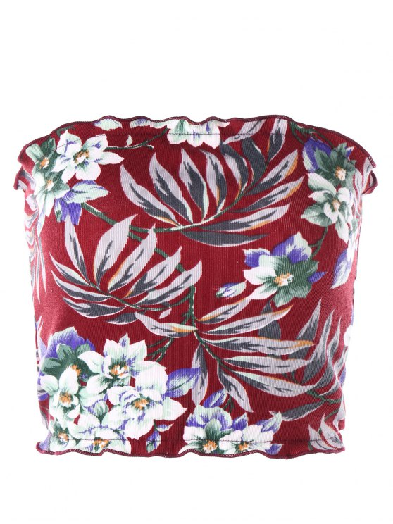 c40b3ed3a6 34% OFF  2019 Floral Hawaiian Tube Top In RED