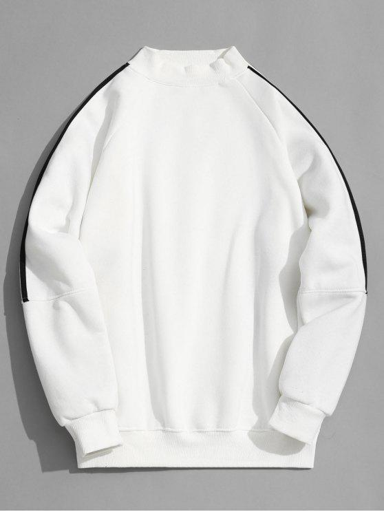 Sudadera con cuello mosquecino forrado de lana - Blanco 2XL