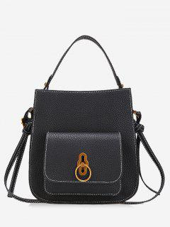 PU Leather Handbag - Black