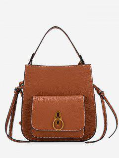 PU Leather Handbag - Brown