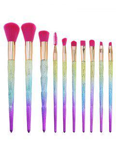 Set De Pinceles De Maquillaje De 10 Colores Profesional Degradado - Sandia Roja