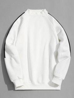 Fleece Lined Mock Neck Sweatshirt - White 2xl