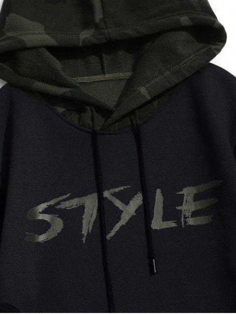 outfit Fleece Style Graphic Camo Hoodie - BLACK XL Mobile