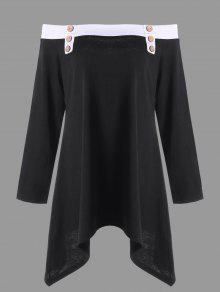 Camiseta Sin Mangas Con Cuello Redondo - Negro 5xl