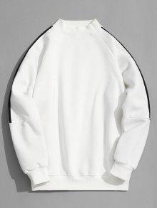 سويت شيرت موك الرقبة صوف - أبيض L
