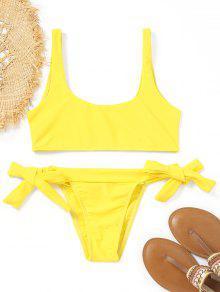 Unliniertes Bikini-Set Gebunden - Gelb L