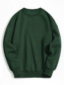 Pullover Fleece-Sweatshirt - Dunkelgrün S