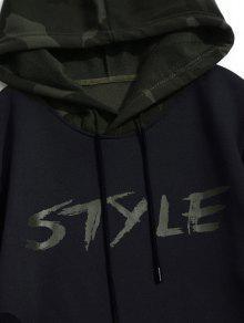 Xl Sudadera Estilo Graphic Negro Con De Camo Capucha Fleece FSxg8F