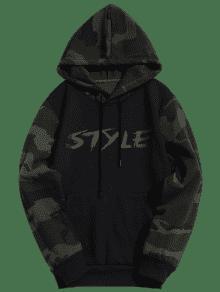 Estilo De Xl Camo Capucha Graphic Sudadera Con Fleece Negro wIXqTaSc