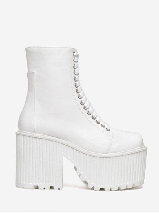 Bottines à lacets - Blanc 36