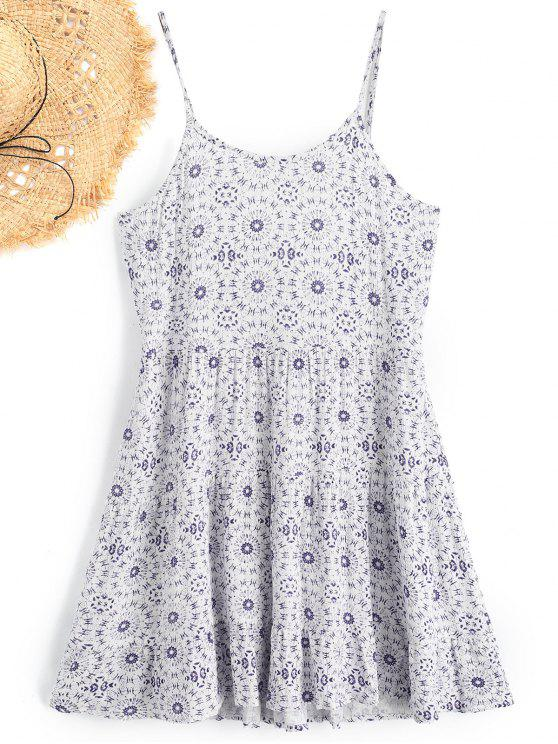 Vestido de Praia Cami Estampado - Branco L