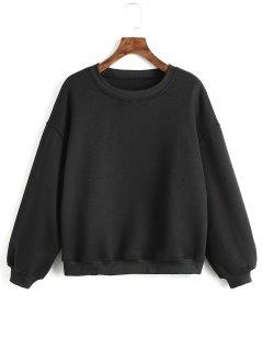Criss Cross Ribbons Sweatshirt - Black L
