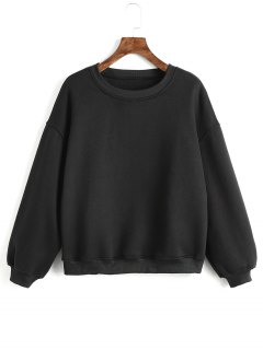 Criss Cross Ribbons Sweatshirt - Black Xl