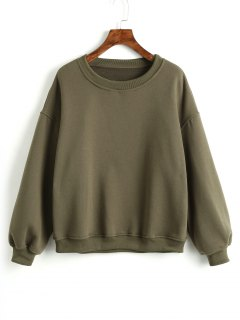 Criss Cross Ribbons Sweatshirt - Army Green S