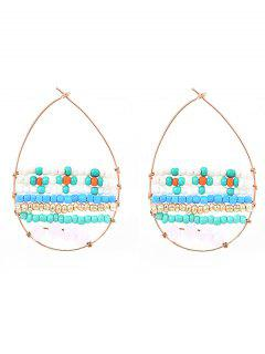 Layered Beads Circle Drop Earrings