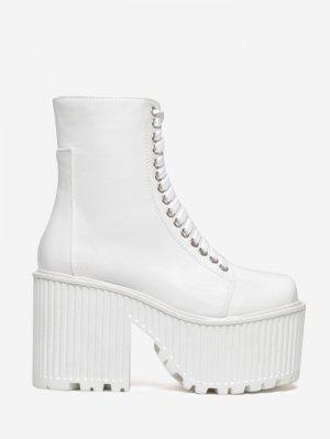 Lace Up Platform Short Boots