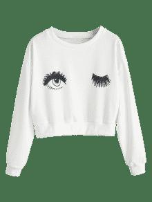 Sudadera Recortados S De Blanco Ojos 225;fico Con Gr UPnqrU