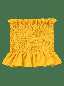 M Con Amarillo Volantes Faldas Sin Mangas Tubo q6818Z
