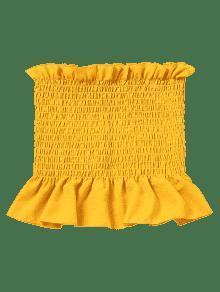 Volantes Amarillo Faldas Mangas Tubo Con Sin M w1FqB