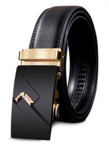 حزام مشبك معدني مزين بحزام معدني من Leathr - ذهبي 110cm