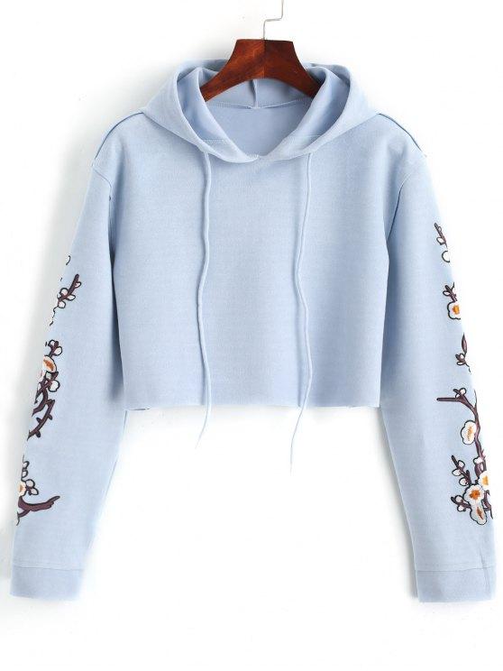 هوديي سويدي طباعة الأابليك والأزهار مقصر - وندسور الأزرق XL
