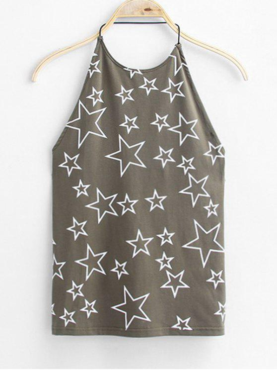 outfit Open Back Star Tank Top - DEEP GRAY ONE SIZE