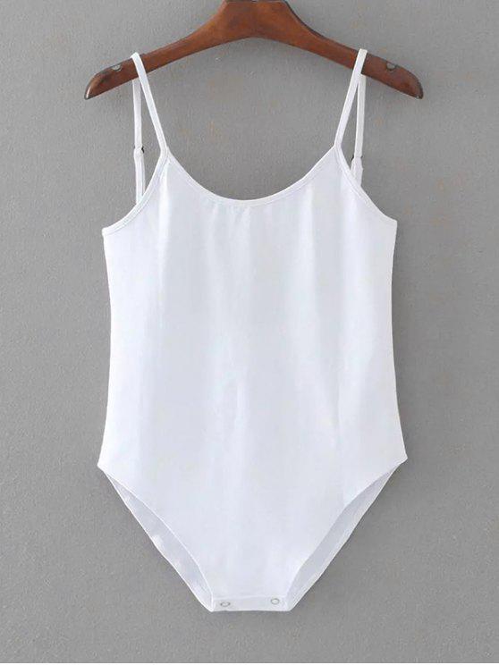 Ärmelloses Rückenfreier Schwimmen Bodysuit - Weiß Eine Größe