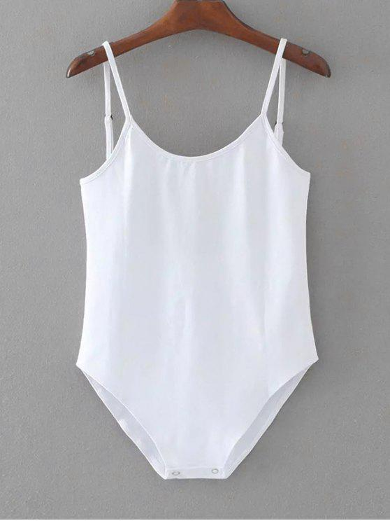 Bodysuit de nadar aberto aberto sem mangas - Branco Um Tamanho