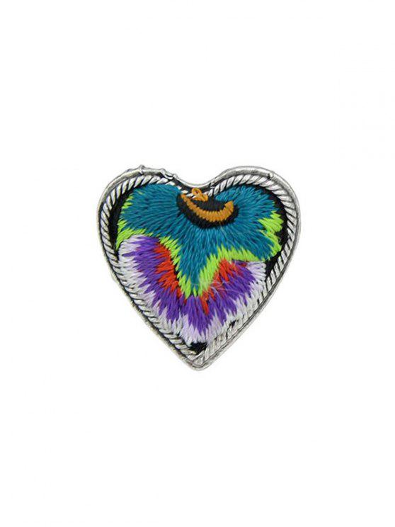 best Embroidery Love Heart Shape Ring - PURPLE ONE-SIZE
