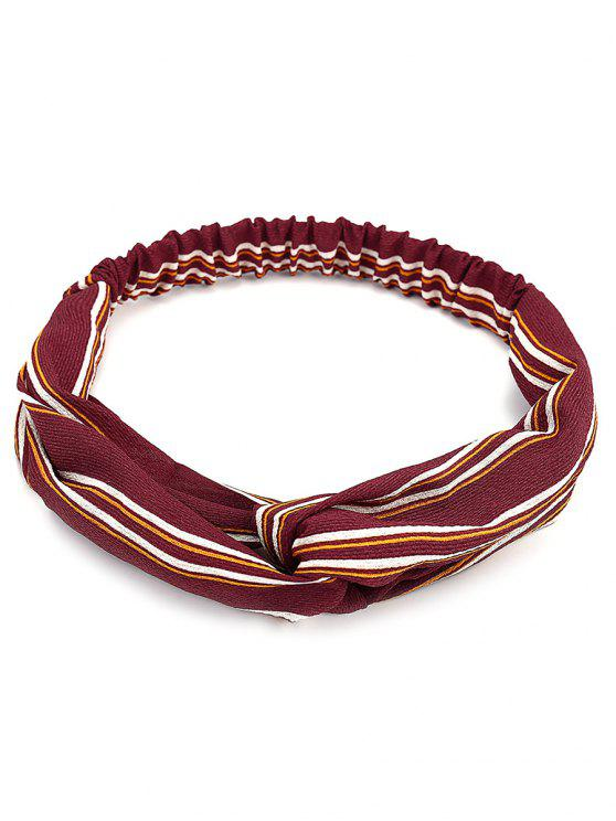 fashion Retro Striped Elastic Hair Band - RED