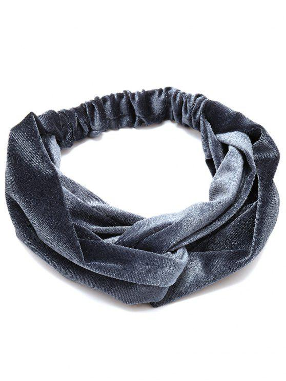 ladies Simple Multi-use Velvet Elastic Hair Band - DARK GRAY