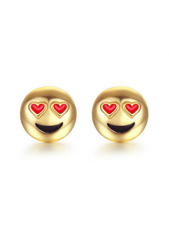 2019 Valentinstag Metall Emoji Ohrstecker Von Golden Zaful De
