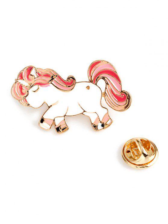hot Valentine's Day Pony Wing Brooch - PINK