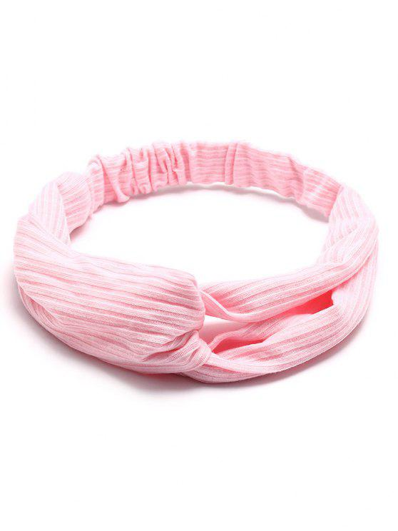 Crochet Elastic Hair Band - Rosa Claro