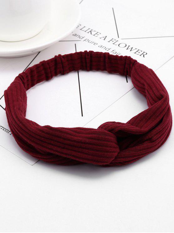 Bandeau Elastique pour Cheveux en Crochet - Rouge vineux