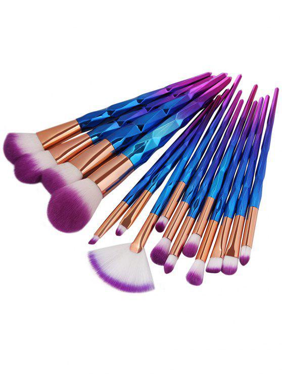 15 قطع ألياف لينة جدا الشعر ماكياج فرشاة مجموعة - أرجواني