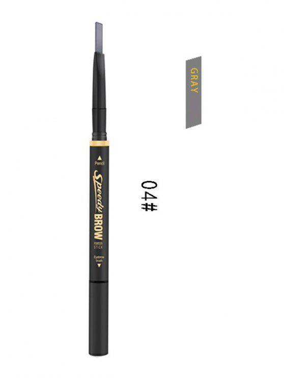 Lápis duradouro de sobrancelhas de dupla extremidade - Cinzento