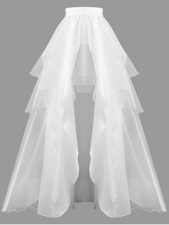 2b9d71e12 31% OFF] 2019 High Waisted Layered Ball Gown Skirt In WHITE | ZAFUL