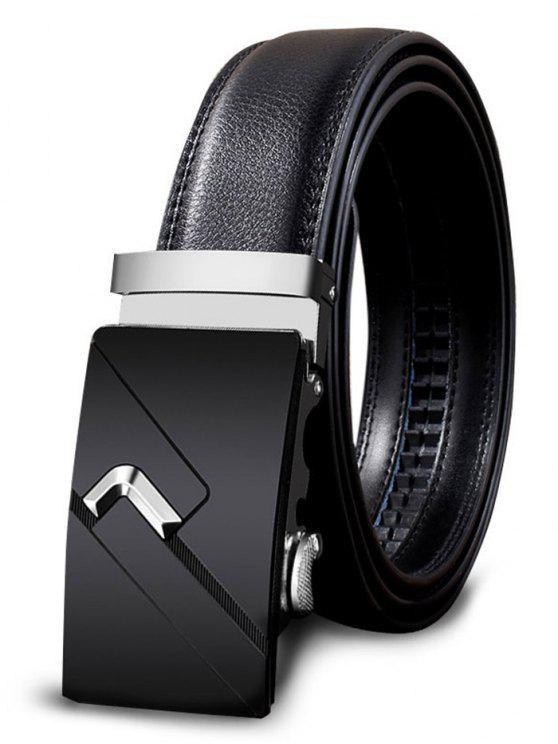 womens Metal Auto Buckle Decorated Faux Leathr Belt - SILVER 110CM