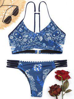 Floral Y-Back Wrap Bikini - Blumen M