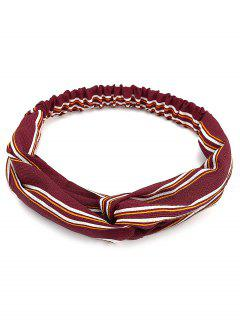 Retro Striped Elastic Hair Band - Red