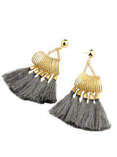 Boho Style Tassel Drop Earrings - Gris
