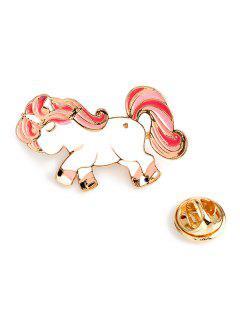 Valentine's Day Pony Wing Brooch - Pink