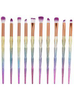 10Pcs Ultra Soft Fiber Hair Eye Makeup Brush Set