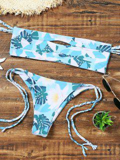 Découpe Florale Sur L'ensemble Bikini à L'épaule - S
