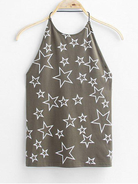 outfit Open Back Star Tank Top - DEEP GRAY ONE SIZE Mobile